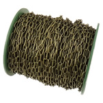 Zinxhiri Iron Oval, Hekur, Ngjyra antike bronz i praruar, asnjë, , nikel çojë \x26amp; kadmium falas, 4.50x10x1.20mm, :50m,  PC