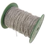 Twist Hekuri Oval Zinxhiri, ngjyrë platin praruar, asnjë, , nikel çojë \x26amp; kadmium falas, 3.70x5x0.90mm, :50m,  PC