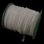 Twist Hekuri Oval Zinxhiri, Ngjyra argjend praruar, asnjë, , nikel çojë \x26amp; kadmium falas, 4.50x5.70x1.20mm, :50m,  PC
