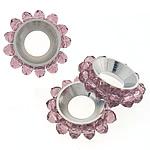 Beads Spacer Crystal, Kristal, Lule, Lt Amethyst, 17mm, 4x3mm, : 6.5mm, 100PC/Qese,  Qese