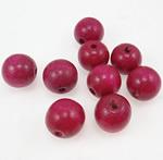 Beads druri, Round, i lyer, Pink fuchsia, 20mm, : 4.5mm, 100PC/Qese,  Qese