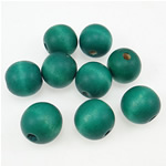 Beads druri, Round, i lyer, e gjelbër, 14x15mm, : 3.5mm, 415PC/Qese,  Qese
