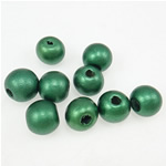 Beads druri, Round, i lyer, e gjelbër, 11x12mm, : 3.5mm, 1040PC/Qese,  Qese
