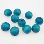 Beads druri, Round, i lyer, blu, 14x15mm, : 3.5mm, 355PC/Qese,  Qese