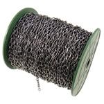 Zinxhiri Iron Oval, Hekur, plumbit ngjyrë të zezë praruar, asnjë, , nikel çojë \x26amp; kadmium falas, 4.40x7.60x1.20mm, :50m,  PC