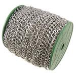 Stainless Steel Eyepins, Hekur, Romb, ngjyrë platin praruar, asnjë, , nikel çojë \x26amp; kadmium falas, 7.40x8.40x1.20mm, :50m,  PC