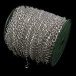 Stainless Steel Eyepins, Hekur, Romb, Ngjyra argjend praruar, asnjë, , nikel çojë \x26amp; kadmium falas, 7.40x8.40x1.20mm, :50m,  PC