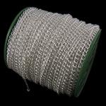 Twist Hekuri Oval Zinxhiri, Ngjyra argjend praruar, asnjë, , nikel çojë \x26amp; kadmium falas, 5.90x7.50x1.40mm, :50m,  PC