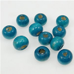 Beads druri, Round, i lyer, acid blu, 7x8mm, : 2.5mm, 3845PC/Qese,  Qese