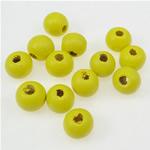 Beads druri, Round, i lyer, i verdhë, 7x8mm, : 3mm, 2500PC/Qese,  Qese