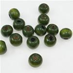 Beads druri, Round, i lyer, e gjelbër, 7x8mm, : 3mm, 3570PC/Qese,  Qese