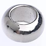 Beads bizhuteri Alloy zink, Daulle, ngjyrë platin praruar, asnjë, , nikel çojë \x26amp; kadmium falas, 10x5.50mm, : 5.5mm, 666PC/Qese,  Qese