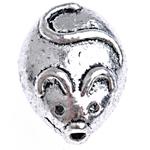 Beads Alloy zink Kafshëve, Ngjyra antike argjendi praruar, asnjë, , nikel çojë \x26amp; kadmium falas, 11.50x9x6.50mm, : 1mm, 666PC/Qese,  Qese