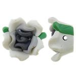 Beads polimer balta, Polymer Clay, Lule, asnjë, 17x16.50x8.50mm, : 2mm, 100PC/Qese,  Qese