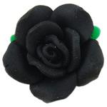 Beads polimer balta, Polymer Clay, Lule, asnjë, e zezë, 16x14.50x8mm, : 2mm, 100PC/Qese,  Qese
