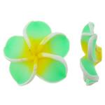 Beads polimer balta, Polymer Clay, Lule, asnjë, 30.50x30x11mm, : 2mm, 100PC/Qese,  Qese