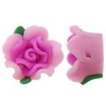Beads polimer balta, Polymer Clay, Lule, asnjë, rozë, 15x15x10mm, : 2mm, 100PC/Qese,  Qese