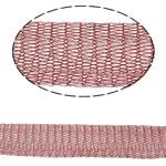 Lace Wire Ribbon, Tunxh, asnjë, asnjë, kuqe të errët, , nikel çojë \x26amp; kadmium falas, 12mm,  m