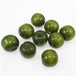 Beads druri, Numërator, i lyer, e gjelbër, 16mm, : 4mm, 450PC/Qese,  Qese