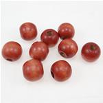 Beads druri, Round, i lyer, i kuq, 18mm, : 5.5mm, 330PC/Qese,  Qese