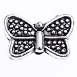 Beads Alloy zink Kafshëve, Flutur, Ngjyra antike argjendi praruar, asnjë, , nikel çojë \x26amp; kadmium falas, 10.50x6.50x3.30mm, : 1mm, 1428PC/Qese,  Qese