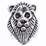 Beads Alloy zink Kafshëve, Luani, Ngjyra antike argjendi praruar, asnjë, , nikel çojë \x26amp; kadmium falas, 13x8x8.50mm, : 4.5mm, 476PC/Qese,  Qese