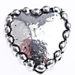 Beads Zink Alloy Zemra, Alloy zink, Zemër, Ngjyra antike argjendi praruar, asnjë, , nikel çojë \x26amp; kadmium falas, 7.50x7x3.50mm, : 1.4mm, 714PC/Qese,  Qese