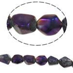 Natürliche Beschichtung Quarz Perlen, Klumpen, bunte Farbe plattiert, 12-23mm, Bohrung:ca. 1.2-1.5mm, Länge:15.5 ZollInch, 20SträngeStrang/Menge, verkauft von Menge