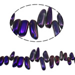 Natürliche Beschichtung Quarz Perlen, Klumpen, bunte Farbe plattiert, 13-35mm, Bohrung:ca. 1.2-1.5mm, Länge:15.5 ZollInch, 20SträngeStrang/Menge, verkauft von Menge