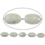 Natyrore Gri Beads agat, Grey agat, Oval, asnjë, asnjë, 27x19mm, : 2.5mm, : 16Inç, 3Fillesat/Shumë,  Shumë