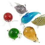 Dekorimi Moda, Lampwork, Kafshë, ngjyra të përziera, 35.5x75x58mm-74x92x27mm, 10PC/Shumë,  Shumë