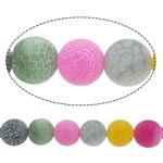 Natürliche Effloresce Achat Perlen, Auswitterung Achat, rund, verschiedene Größen vorhanden, gemischte Farben, Bohrung:ca. 1-1.2mm, verkauft per ca. 15 ZollInch Strang