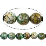 Natyrore kërcitje Beads Zjarri agat, YouTube Fire agat, Round, natyror, 12mm, : 1mm, : 14Inç, 5Fillesat/Shumë,  Shumë