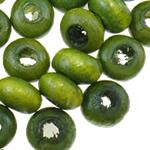 Beads druri, Numërator, i lyer, e gjelbër, 2x3mm, : 1.6mm, 33333PC/Qese,  Qese