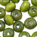 Beads druri, Numërator, i lyer, e gjelbër, 3x4mm, : 1.8mm, 19230PC/Qese,  Qese