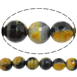 Natyrore kërcitje Beads Zjarri agat, YouTube Fire agat, Round, natyror, 12mm, : 1mm, : 15Inç, 10Fillesat/Shumë,  Shumë