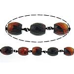 Beads Mrekulli Natyrore agat, Mrekullia agat, Oval, 14.50x16mm, : 2mm, : 15Inç, 5Fillesat/Shumë,  Shumë