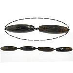 Natyrore kërcitje Beads Zjarri agat, YouTube Fire agat, Oval, natyror, 14.50x54.50mm, : 3mm, : 16Inç, 5Fillesat/Shumë,  Shumë