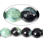 Beads Natyrore kuarc Ice agat, Ice kuarc agat, Round, asnjë, faceted, 18mm, : 1.2mm, : 15Inç, 3Fillesat/Shumë,  Shumë