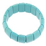 Fashion Bracelets Turquoise, Bruz Natyrore, 11x22x6.50mm, : 7.2Inç, 30Fillesat/Shumë,  Shumë