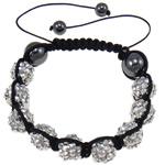 Rrëshirë Shamballa Bracelets, with Cord najlon & Jo-magnetike kuqe e mbylltë & Rrëshirë diamant i rremë, asnjë, 10x12mm, :7.5Inç,  7.5Inç,