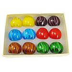Ring Finger lampwork, shirit, ngjyra të përziera, 28x29x23mm, : 19mm, :9.5, 12PC/Kuti,  Kuti