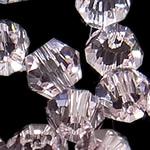 Swarovski Crystal Beads, Bicone, Vintage Rose, 4mm, : 1mm, 50PC/Qese,  Qese