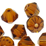 Swarovski Crystal Beads, Bicone, Topaz tymosur, 4mm, : 1mm, 50PC/Qese,  Qese
