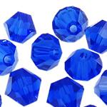 Swarovski Crystal Beads, Bicone, Dark Sapphire, 3mm, : 1mm, 50PC/Qese,  Qese