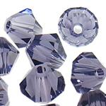 Swarovski Crystal Beads, Bicone, Vjollcë, 3mm, : 1mm, 50PC/Qese,  Qese