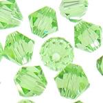 Swarovski Crystal Beads, Bicone, Peridot, 3mm, : 1mm, 50PC/Qese,  Qese