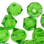Swarovski Crystal Beads, Bicone, Gjelbër fier, 3mm, : 1mm, 50PC/Qese,  Qese