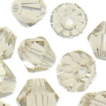 Swarovski Crystal Beads, Bicone, Silver shampanjë, 3mm, : 1mm, 50PC/Qese,  Qese