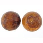 Goldsand Lampwork Perlen, rund, 15.50x15mm, Bohrung:ca. 2mm, 100PCs/Tasche, verkauft von Tasche
